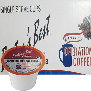 Boston's Best Coffee Roasters Warrior Salute Coffee Single Cup. Compatible with most or all single cup brewers including Keurig® and Keurig® 2.0