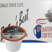 Boston's Best Coffee Roasters Boot Camp Blend Coffee Single Cup. Compatible with most or all single cup brewers including Keurig® and Keurig® 2.0