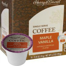 Harry & David Maple Vanilla Coffee Single Cup. Compatible with all single serve brewers, including Keurig® and Keurig® 2.0.