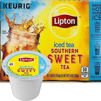Lipton Southern Sweet Tea Iced Tea K-Cup® Pod. Compatible with most or all single cup brewers including Keurig® and Keurig® 2.0