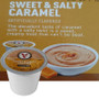 Victor Allen's Coffee Sweet & Salty Caramel Cappuccino Mix Single Cup. The decadent taste of caramel with a salty twist is a sweet, creamy treat that can't be beat. Compatible with most single cup brewers including Keurig and Keurig 2.0.