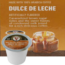 Victor Allen's Coffee Dulce De Leche Coffee Single Cup. Caramelized brown sugar notes and the sweet flavors of condensed milk joined for a rich delicious coffee. Compatible with most single cup brewers including Keurig and Keurig 2.0.