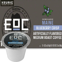EOC Eight O'Clock Maine Blueberry Crisp Coffee K-Cup® Pod. Blueberry flavored. Compatible with most or all single cup brewers including Keurig® and Keurig® 2.0