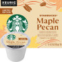 Starbucks Maple Pecan Coffee K-Cup® Pod. Toasty pecan notes meets sweet maple. Compatible with most or all single cup brewers including Keurig® and Keurig® 2.0