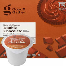 Good & Gather Double Chocolate Coffee Single Cup. Sweet, milk chocolate flavor with a smooth finish. Compatible with all single cup brewers, including Keurig and Keurig 2.0.