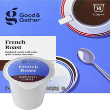 Good & Gather French Roast Coffee Single Cup. Bold and smoky with notes of bittersweet chocolate. Compatible with all single cup brewers, including Keurig and Keurig 2.0.