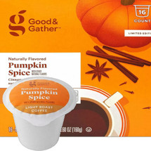 Good & Gather Pumpkin Spice Coffee Single Cup. Cinnamon, clove, ginger, nutmeg and a hint of pumpkin. Compatible with all single cup brewers, including Keurig and Keurig 2.0.