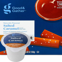 Good & Gather Salted Caramel Coffee Single Cup. Balanced buttery sweet caramel with salty notes. Compatible with all single cup brewers, including Keurig and Keurig 2.0.