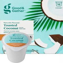 Good & Gather Toasted Coconut Coffee Single Cup. Toasted coconut notes balanced with sweetness. Compatible with all single cup brewers, including Keurig and Keurig 2.0.