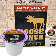 Harry & David Moose Munch Maple Walnut Coffee Single Cup. Compatible with all single serve brewers, including Keurig® and Keurig® 2.0.