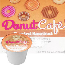 Copper Moon Donut Cafe Toasted Hazelnut Coffee Single Cup. Toasted nutty blend with a smooth creamy sweetness. Compatible with all single serve brewers, including Keurig® and Keurig® 2.0.