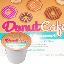 Copper Moon Donut Cafe Salted Caramel Coffee Single Cup. Sweet & salty blend with a creamy caramel finish. Compatible with all single serve brewers, including Keurig® and Keurig® 2.0.