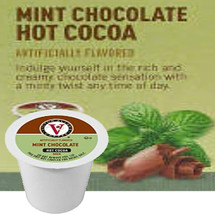 Victor Allen's Coffee Mint Chocolate Hot Cocoa Single Cup. Indulge yourself in the rich and creamy chocolate sensation with a minty twist any time of day. Compatible with most single cup brewers including Keurig and Keurig 2.0.