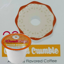 Copper Moon Donut Cafe Coconut Crumble Coffee Single Cup. Compatible with all single serve brewers, including Keurig® and Keurig® 2.0.