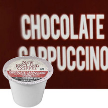 New England Coffee Chocolate Cappuccino K-Cup® Pod. Blend of rich milk chocolate and creamy cappuccino flavors. Compatible with most or all single cup brewers including Keurig® and Keurig® 2.0.