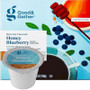Good & Gather Honey Blueberry Coffee Single Cup. Luscious blueberry flavor complemented by sweet honey notes. Compatible with all single cup brewers, including Keurig and Keurig 2.0.