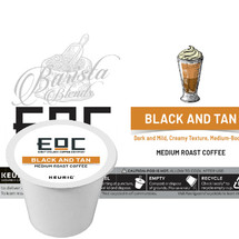 EOC Eight O'Clock Black And Tan Coffee K-Cup® Pod. Dark and mild, creamy texture. Compatible with most or all single cup brewers including Keurig® and Keurig® 2.0