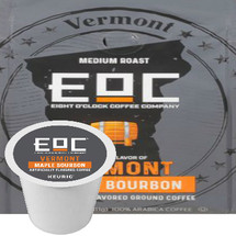 EOC Eight O'Clock Vermont Maple Bourbon K-Cup® Pod. Compatible with most or all single cup brewers including Keurig® and Keurig® 2.0