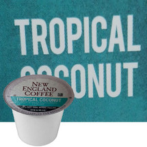 New England Coffee Tropical Coconut Coffee K-Cup® Pod. Compatible with most or all single cup brewers including Keurig® and Keurig® 2.0.