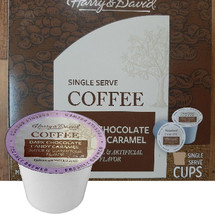 Harry & David Dark Chocolate Candy Caramel Single Cup. Compatible with all single serve brewers, including Keurig® and Keurig® 2.0.