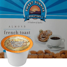Sweet Sunrise Roastery  Almond French Toast Coffee Single Cup. Compatible with all single serve brewers, including Keurig® and Keurig® 2.0.