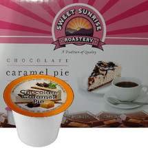 Sweet Sunrise Roastery Chocolate Caramel Pie Coffee Single Cup. Compatible with all single serve brewers, including Keurig® and Keurig® 2.0.