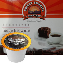 Sweet Sunrise Roastery  Chocolate Fudge Brownie Coffee Single Cup. Compatible with all single serve brewers, including Keurig® and Keurig® 2.0.