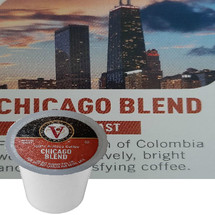 Victor Allen's Coffee Chicago Blend Coffee Single Cup. From the origin of Colombia we offer this lively, bright and very satisfying coffee. Compatible with most single cup brewers including Keurig and Keurig 2.0.
