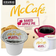McCafe Baked Apple Pie Coffee K-Cup® Pod. Bursting with the timeless combination of crisp apple, buttery pie crust, and sweet cinnamon flavors. Compatible with all single cup brewers.