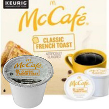 McCafe Classic French Toast Coffee K-Cup® Pod. Irresistible aroma and comforting flavors of sweet maple syrup, buttery toast, and a dash of cinnamon. Compatible with all single cup brewers.