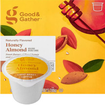 Good & Gather Honey Almond Coffee Single Cup. Sweet flavors of floral honey and smooth almond. Compatible with all single cup brewers, including Keurig and Keurig 2.0.