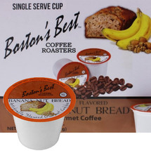 Boston's Best Coffee Roasters Banana Nut Bread Coffee Single Cup. Compatible with most or all single cup brewers including Keurig® and Keurig® 2.0