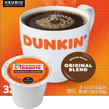 Dunkin' Original Blend Coffee K-Cup, Dunkin' unique blend of 100% Arabica beans delivers the smooth, delicious flavor that's made Dunkin' America's Favorite Coffee.