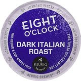 Eight O'Clock Dark Italian Coffee K-Cup® Pod  A European dark 100% Arabica roast, full bodied and balanced with chocolate overtones.  K-Cup® Pod