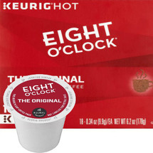 Eight O'Clock Original Coffee K-Cup. A bright, 100% Arabica roast offering sweet and fruity hints in a well-balanced flavor. Perfect for any occasion.