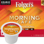 Folgers Gourmet Selections Morning Cafe Coffee K-Cup . Wake up, and greet the morning with the bright taste and eye-opening aroma of Folgers Gourmet Selections® Morning Cafe Coffee.