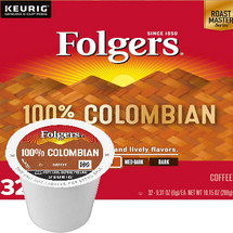 Folgers Gourmet Selections 100% Columbian Coffee K-Cup, This coffee has a distinctively rich and full-bodied taste of 100% Colombian beans.