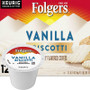 Folgers Gourmet Selections Vanilla Biscotti Coffee K-Cup. This flavored coffee has a smooth vanilla flavor with a creamy finish.