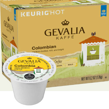 Gevalia Kaffe Colombia Coffee K-Cup® Pod. A rich, bright and well-bodied coffee. This single origin classic is renowned around the world. We have sourced these 100% Colombian beans for decades. Compatible with most single cup brewers including Keurig & Keurig 2.0.