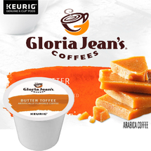 Gloria Jean's Butter Toffee Coffee K-Cup, Gloria Jean's Butter Toffee Coffee K-Cup, Creamy taste with a caramel toffee accent.