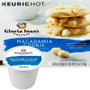 Gloria Jean's Macadamia Cookie Coffee K-Cup. A sweet sugar cookie with a hint of macadamia, dipped into a smooth, rich brew. Compatible with most single serve brewers including Keurig and Keurig 2.0