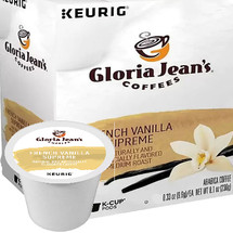 Gloria Jean's French Vanilla Supreme Coffee K-Cup. A long-time favorite, Gloria Jean's French Vanilla Supreme coffee offers a pure vanilla taste. Compatible with most or all single cup brewers including Keurig® and Keurig® 2.0