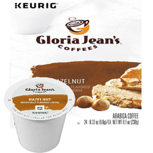 Gloria Jean's Hazelnut Coffee K-Cup, This nut flavored coffee is perfect at any time of day.