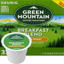 Green Mountain Breakfast Blend Coffee K-Cup® Pod, Green Mountain Breakfast Blend Coffee K-Cup® Pod Breakfast Blend is one of our most popular blends. It has a rich taste and medium acidity. We think you'll find Breakfast Blend to be balanced and smooth.