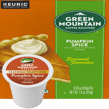Green Mountain Pumpkin Spice Coffee K-Cup. A delicious coffee enhanced by the creamy pumpkin spice flavors of autumn. Compatible with most single serve brewers including Keurig and Keurig 2.0