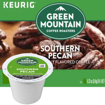 Green Mountain Southern Pecan Coffee K-Cup. This coffee has the buttery flavor of luscious nutty pecans. Compatible with most or all single cup brewers including Keurig® and Keurig® 2.0
