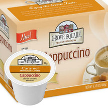 With a stimulating aroma and pure taste, it provides a potent pick-me-up that highlights the bold vanilla, hazlenut and caramel flavors with coffee in perfect harmony Creamy, steamy and a little dreamy, cappuccino is the coffee treat you can call your own, any time of day, every day Grove Square Specialty Cappuccino flavored drink mixes, made with some of the highest quality ingredients, with a sugar/sucralose blend, are a decadent combination of each coffee, and flavor combo sure to be refreshing and treat anytime of day