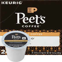 Peet's Cafe Domingo Coffee K-Cup® Pod. Smooth and balanced, with hints of toffee sweetness and a crisp, clean finish. Compatible with all single serve brewers, including Keurig® and Keurig® 2.0.