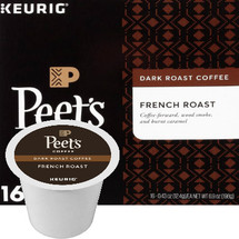 Peet's Coffee French Roast Coffee K-Cup® Pod. Intensely bold and flavorful, pronounced smoky overtones with a pleasant bite. Compatible with most single cup brewers including Keurig & Keurig 2.0.