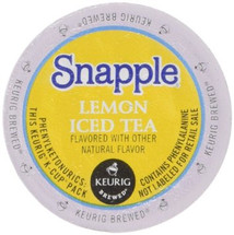 Snapple Lemon Iced Tea K-Cup® Pod. You can now enjoy the great taste of Snapple Lemon Iced Tea home-brewed any time. Compatible with all single serve brewers, including Keurig® and Keurig® 2.0.